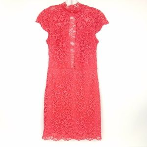 BEBE Womens size S Sexy Bodycon Dress Lace  S/S